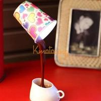 DIY Coffee Cup Night Light Novelty Romantic Battery USB Power LED Lamp Home Table Desk Bedroom Decoration Lampshade