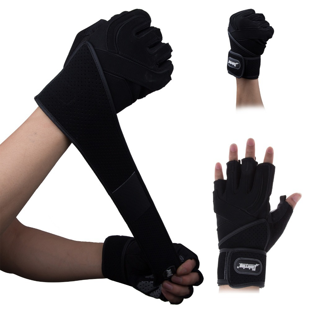 Gym Body Building Training Fitness Gloves Sports Weight Lifting Exercise Slip Resistant Gloves For Men And