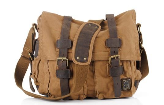 2012 New I Am Legend Leather & Canvas Mens handbag Messenger shoulder bag sport free shipping(China (Mainland))