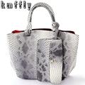 Bolsa Feminina Crocodile Snake Skin Women Handbags Shoulder Bags Top handle Bag Designer Brand High Quality