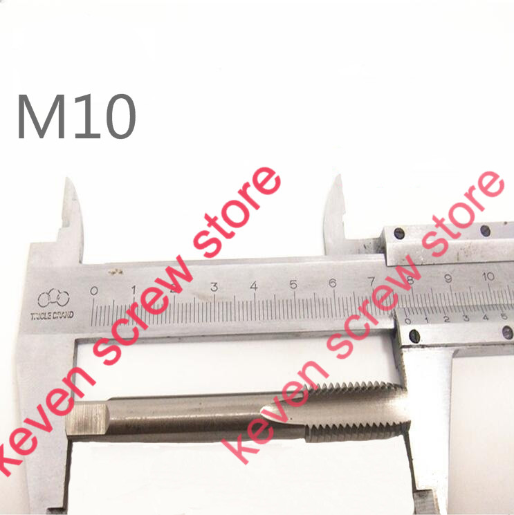 Free shipping 3 Pcs / Lot M10 Machine Spiral Point Straight Fluted Screw Thread Metric Plug Hand Tap Drill(China (Mainland))