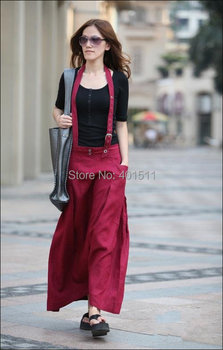 S0030 custom made plus size s to 6xl   Free shipping high quality women's fashion long linen skirt ,support drop shipping