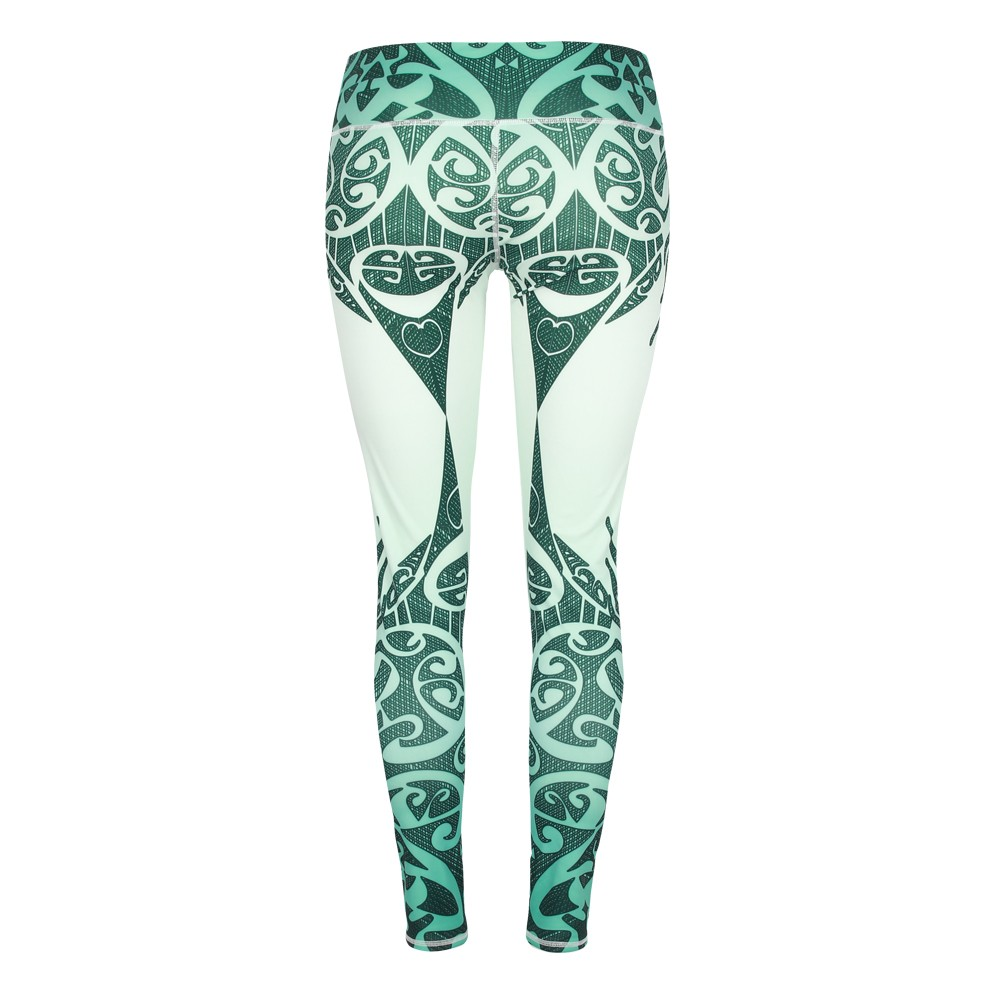 Blackish green pattern printed leggings for women yoga pants outfits running sport pants activewear gear clothing (2)