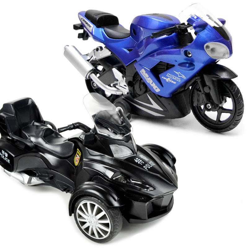 Bombardier racing motorcycle 1:28 alloy Diecast pull back music flashing Electric model car for kids toys(beibei030)(China (Mainland))