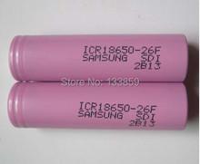 2PCS Samsung New 100% Original 3.7V 18650 ICR18650-26F 2600mAh Li-ion  Battery For  Laptop+Free Shopping