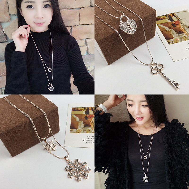 necklace All-match pendant clothing accessories necklace accessories female necklace long design hangings decoration(China (Mainland))
