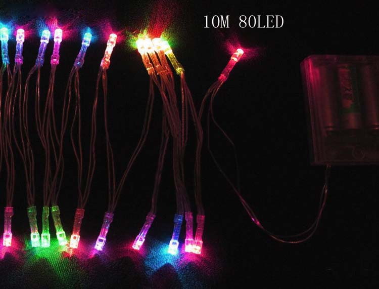 Christmas String Lights Battery Operated : 10M 80LEDS holiday lighting 3AAA Battery power operated led string lights Christmas X mas light ...