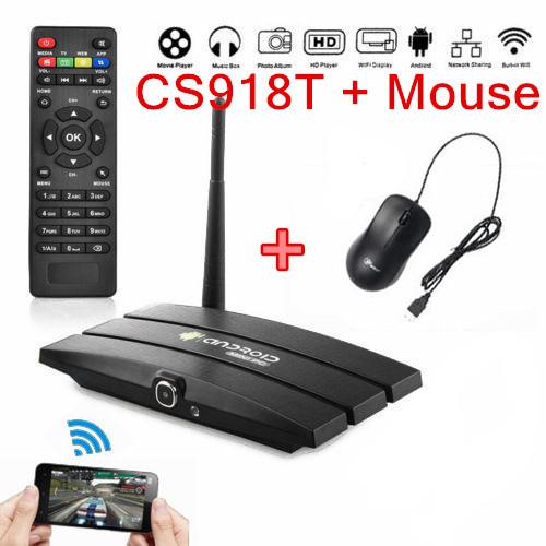 Android 4.4 Smart TV BOX + Free Mouse Qaud core Mini PC HDMI CS918T Amlogic s805Cortex A9 1GB RAM 8GB Bluetooth WiFi HD Webcam(China (Mainland))