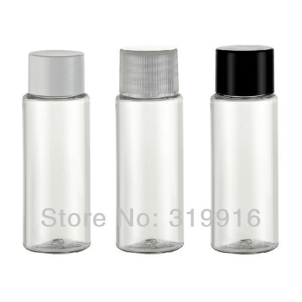Free shipping 20ml transparent  PET plastic small  containers bottle with lid cap  wholesale  100pc/lot
