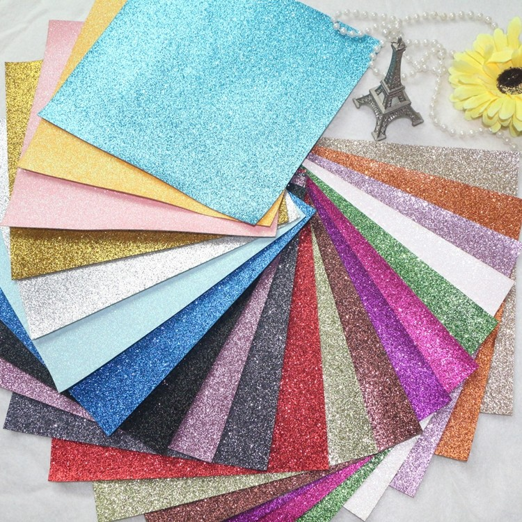 19 PCS/SET--20X22CM PER PCS DIY High Quality Glitter synthetic leather &Fabric 20X22CM PER PCS( Total 40 Colors Available)(China (Mainland))