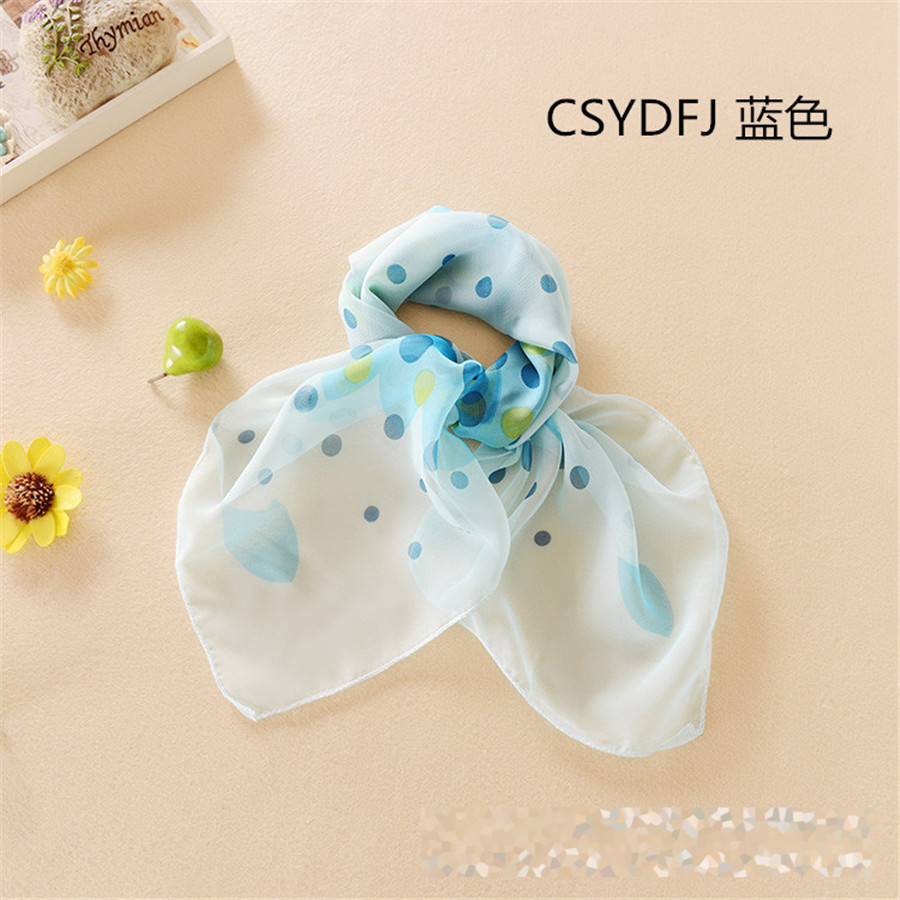 New Brand Casual Female Silk Small Square Wrap Dot Floral Printed Cute Fashion Scarf Office Workwear Buy two Get one more(China (Mainland))