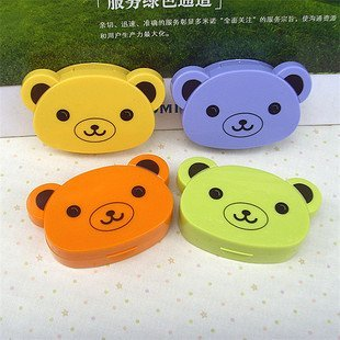 High Quality Color  Bear Contact lenses box, Companion box