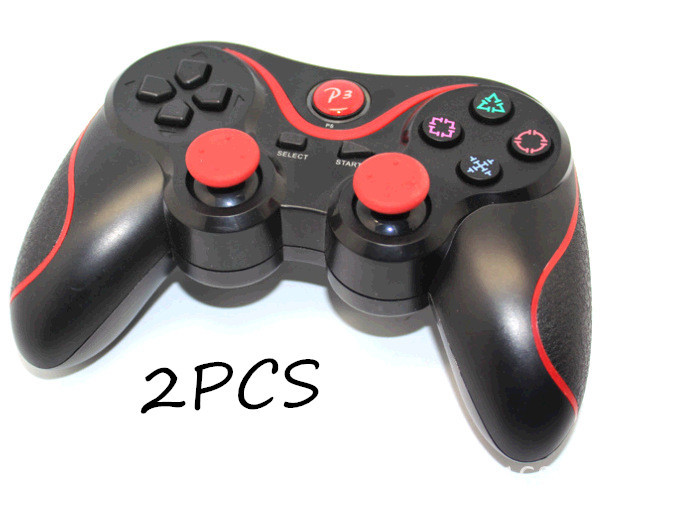 2pcsDouble Shock Wireless bluetooth Controller Sixaxis Joypad Joystick For PC/sony PS3 android Gamepad for playstation 3 console(China (Mainland))