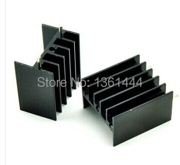 Free shipping 40pcs/lot The TO - 220 transistors and other special aluminum heat sink 25 * 23 * 16 mm aluminum radiato(China (Mainland))