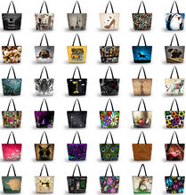 Buy 2016 Various Design Case Fasion Lady's Large Foldable Tote Shopping Bag Beach Shoulder Handbag School Bag Reusable Female for $7.34 in AliExpress store