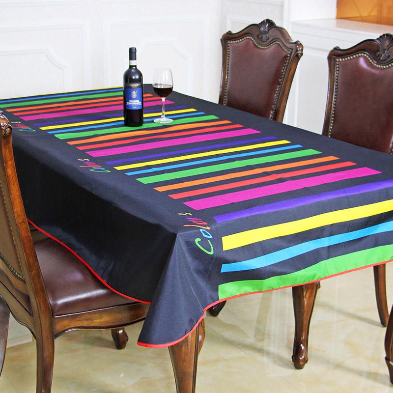 2016 Spring Summer Waterproof Rainbow Table Cloth High Quality Hot Sale Tablecloth Table Cover manteles para mesa Free Shipping(China (Mainland))