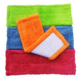 10 pcs/lot, flat microfiber mop pad, pocket mop head, replacement  mop refill- free shipping