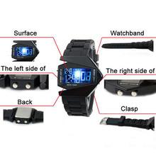 2015 New Fashion Designer Novelty LED Display Digital Mens Women Sports Military Oversized Watch Wristwatches 56HJ