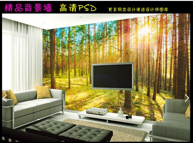 Wallpaper For The Living Room Living Room Decorated With Elegant ...