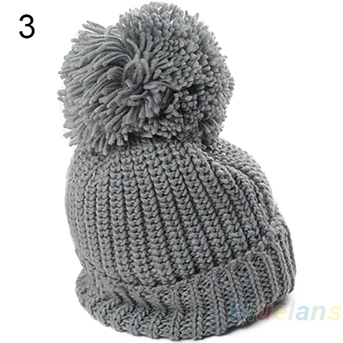 Hight Quality 2015 Women s Winter Slouch Knit Cap Warm Oversized Cuffed Beanie Crochet Ski Bobble