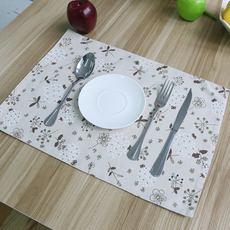 Cotton mats pads korean dandelion 32x45cm 4pcs set - Set de table crochet ...