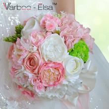 Buy ramo de flores novia pink white beach wedding flowers bridal bouquets vintage wedding decoration artificial wedding bouquets for $46.64 in AliExpress store