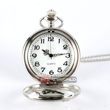 2016 Silver Hollow Horse Style Quartz Pocket Watch Steampunk Necklace Pendant Gift Watch P363