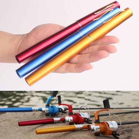 2015 Free Shipping Mini Portable Pocket Carbon Aluminum Alloy Pen Fishing Rods Pole + Fishing Reel Spinning Wheel Pesca Set(China (Mainland))
