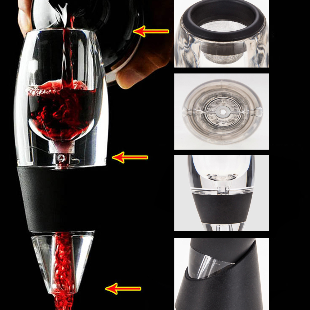 Home Lightweight Quick Essential Red Wine Aerator Decanter Hopper Filter Magic Bar Tools Portable with Fashion Gift Box(China (Mainland))