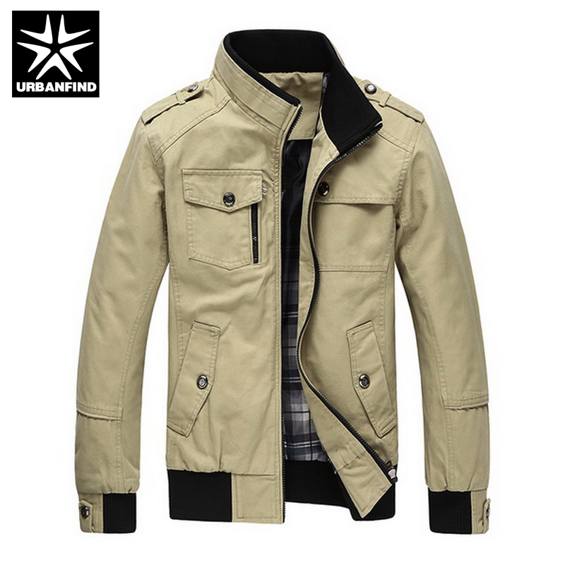 Casual Men's Jacket Spring Army Military Jacket Men Coats Winter Male Outerwear Autumn Overcoat Khaki 3XL(China (Mainland))