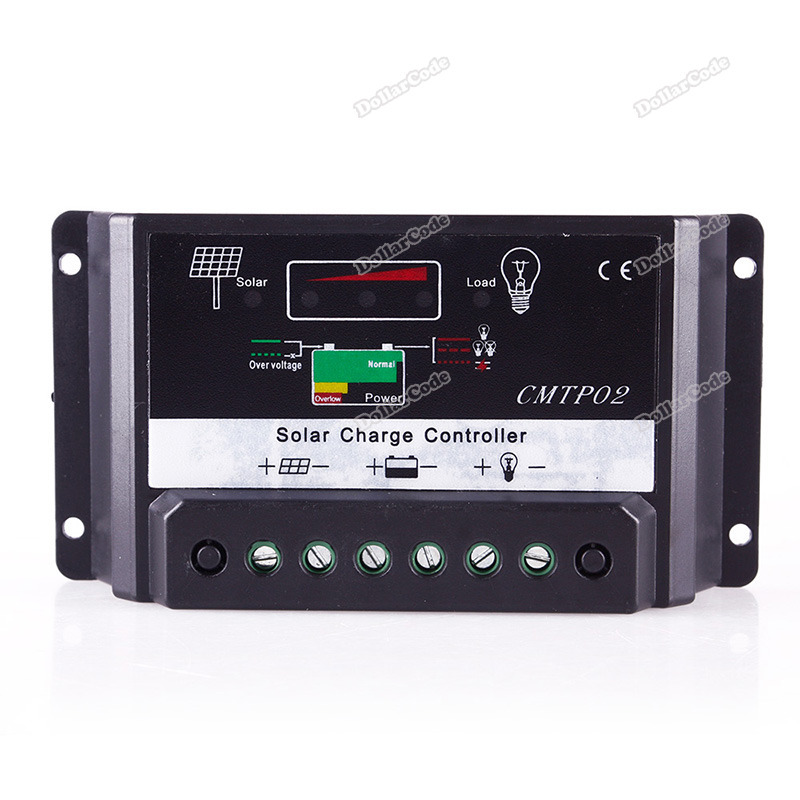 dollarcode Newest Fashion 5A 12V 24V MPPT Solar Panel Battery Regulator Charge Controller Auto Switch CE best services(China (Mainland))