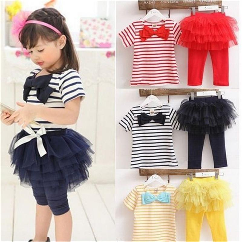 free shipping Kids set summer wear Short sleeve set Children clothing suit t shirt+pants girls apparel suit(China (Mainland))