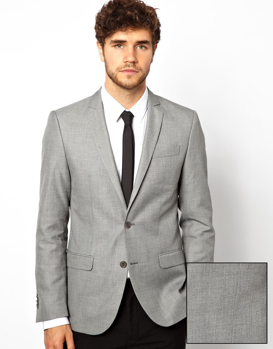Images of Grey Wool Blazer - Reikian
