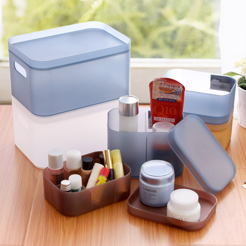 1PC High Quality Plastic Storage Box Makeup Organizer Cosmetic Sundries Container Jewelry Storage Box Holder Rangement Supplies(China (Mainland))