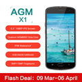 Original AGM X1 5 5inch IP68 Waterproof 4G Mobile Phone Qualcom MSM8952 Octa Core 4GB RAM