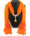 New Charms winter Scarf Necklaces tassel bead Vintage national Pendant scarf Necklaces Women Scarf Necklaces Jewelry Wholesale