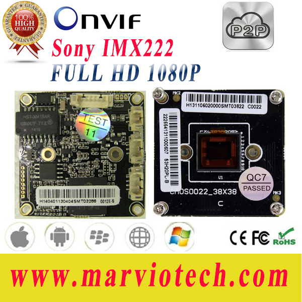 2MP IMX322 Full HD High Definition perfect night vision CCTV IP camera Boards Module p2p 3516C, Onvif, Free P2P Series No.(China (Mainland))