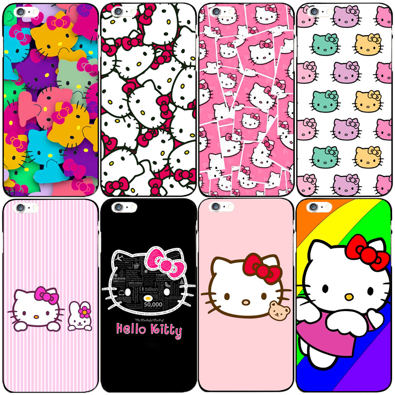 High quality Hard PC cute Hello kitty case for Apple iphone 6 6s 6plus 7 7plus 5 5S SE 5C 4S 4 Lovers phone case back cover capa(China (Mainland))