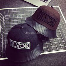 DT454 New Adult Black Cotton Fishing Bucket Cap Letter Printed Brand Autumn Winter Bucket Hat Men Women Hip Hop Cap(China (Mainland))
