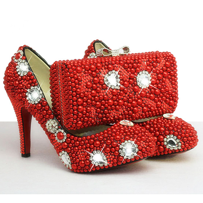 Sparkly Red High Heels