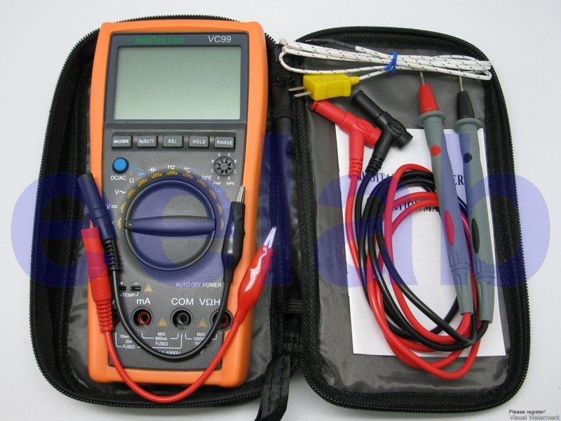 VC99+ 6999 auto range multimeter Amp C Tcompared FLUKE UK DE USA SHIP(China (Mainland))