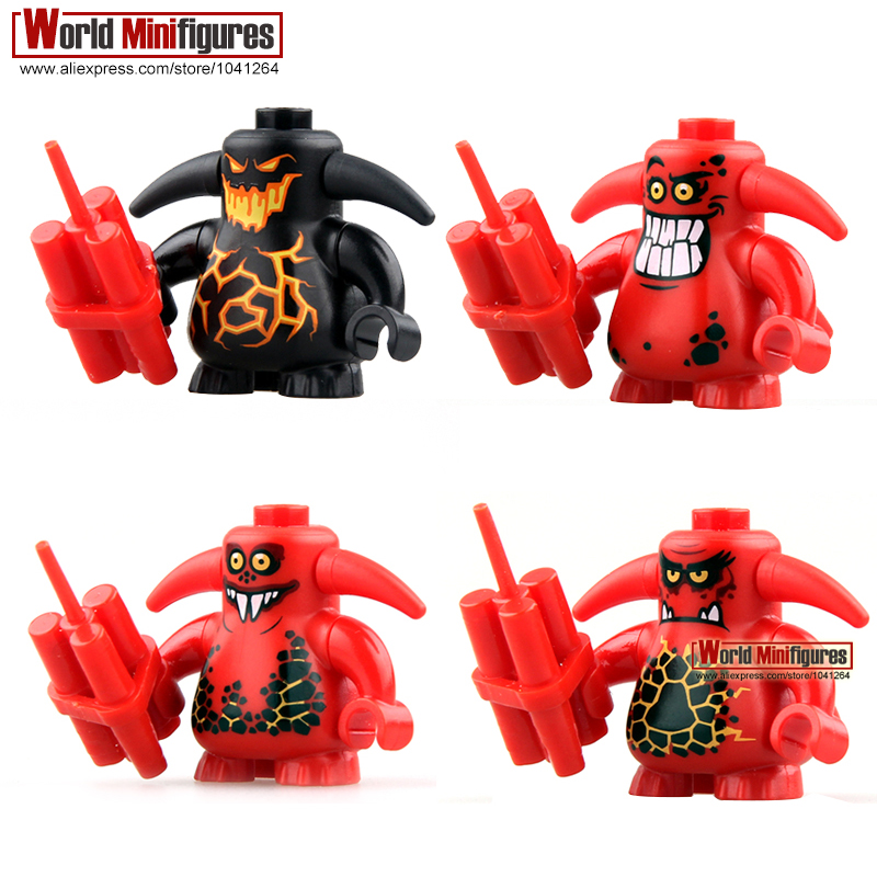 Nexo Knights Castle Warrior Scurrier with 6 teeth Angry Face Minifigures Building Block Best Children Gift Toys PG8008(China (Mainland))