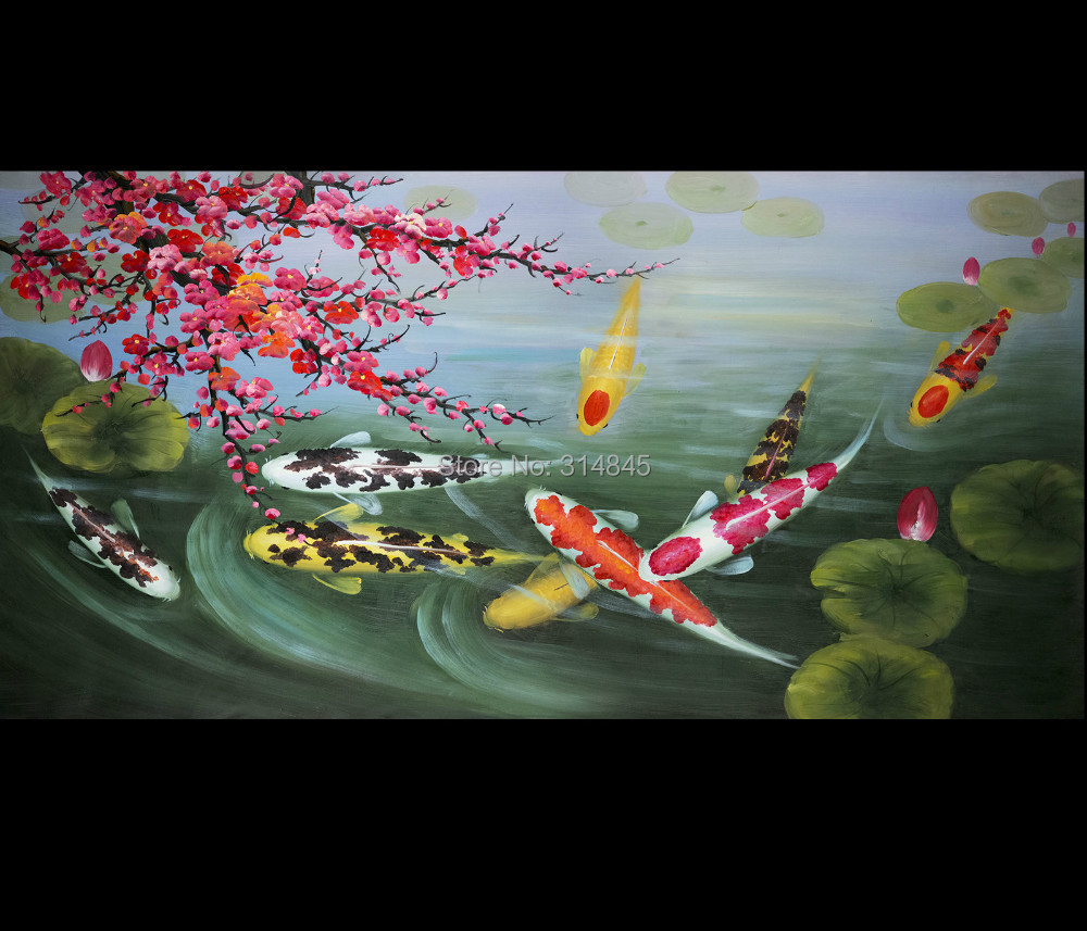 Japanese koi fish paintings the image for Japanese koi