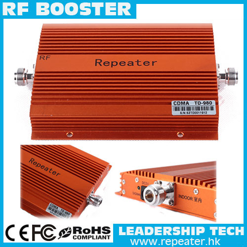 Free shipping China post Wholesale CDMA800MHZ booster 2W repeater CDMA980+850Mhz Coverage 3000square Mobile phone CDMA Booster(China (Mainland))
