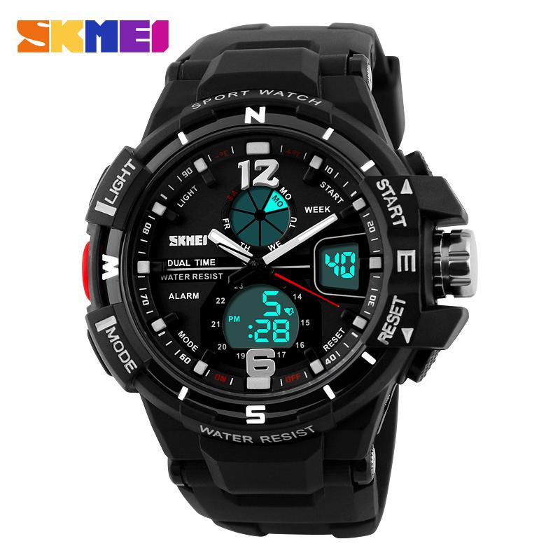 2016 SKMEI Brand Luxury Digital And Analog Men Sports Watch Fashion Military LED Watch Casual Swim Outdoor Wristwatches 1148#(China (Mainland))