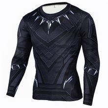 Rashgard Супермен спортивная рубашка мужская 3D принт быстросохнущие беговые футболки компрессионная рубашка Спорт фитнес топы Футболка для сп...(China)