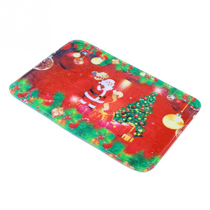 Hot Sale Santa Claus Christmas Tree Mats Doormat Floor Non Slip Rug Christmas Decoration(China (Mainland))
