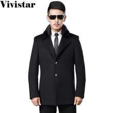 European Style Leather Fur Collar Medium-long 2015 Winter New Arrival High Quality Snow Warm Business Formal Jacket F1657(China (Mainland))