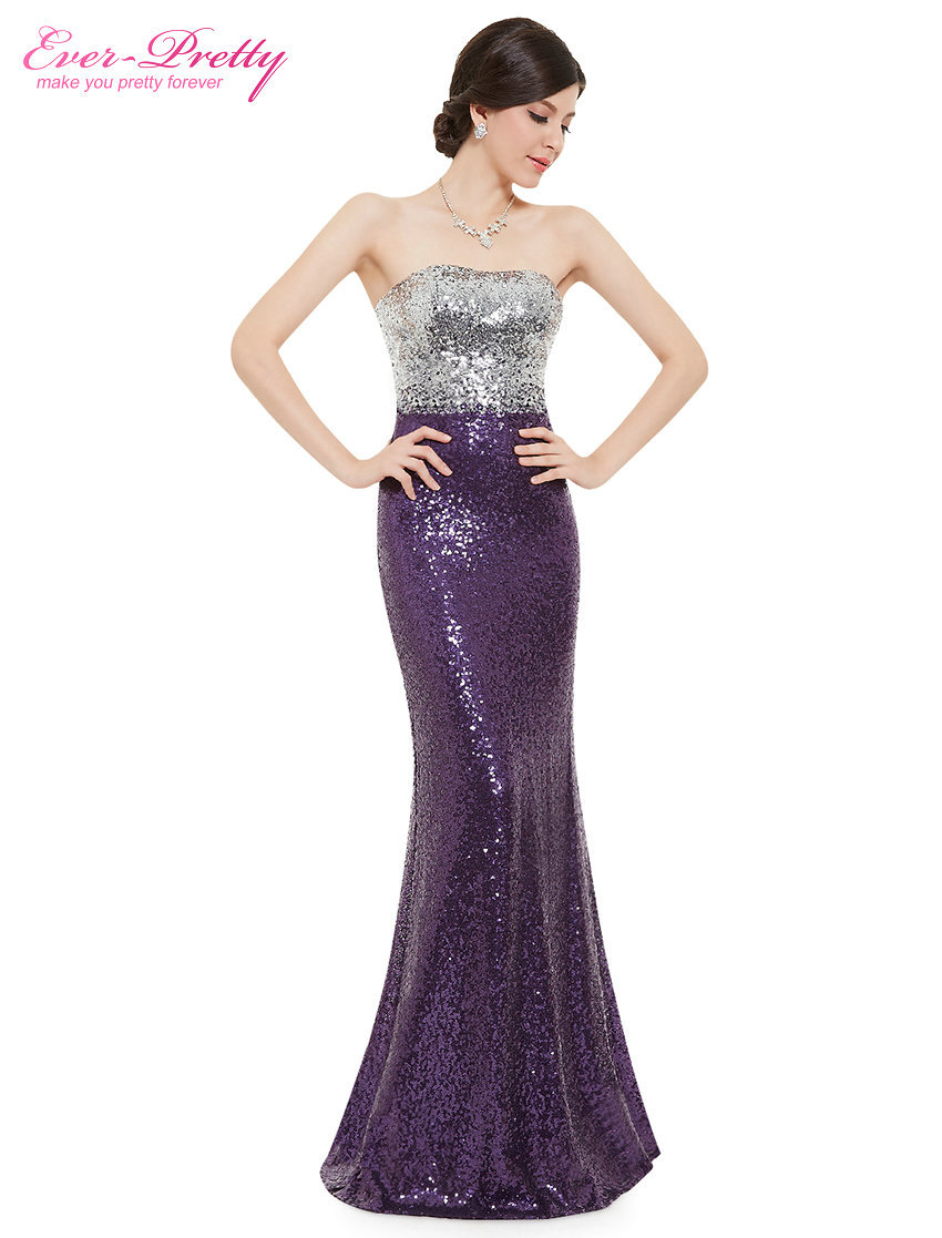 Prom dresses new arrival women strapless flare sequins long elegant