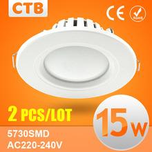 2Pcs Led Downlights 3W 5W 7W 9W 12W 15W 18W 110V 220V LED Ceiling Downlight 2835 Lamps Led Ceiling Lamp Home Indoor Lighting(China (Mainland))